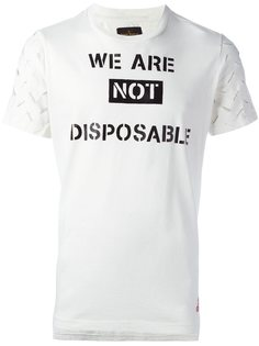 футболка с резным узором на рукавах Vivienne Westwood Anglomania