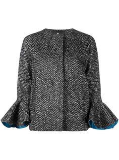 короткое пальто с расклешенными манжетами Capucci