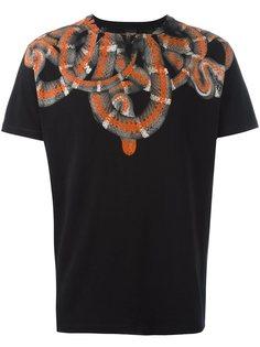 футболка с принтом змей  Marcelo Burlon County Of Milan