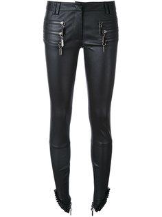 кожаные брюки с молниями Thomas Wylde