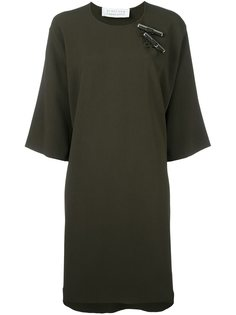 платье с серебристыми деталями  Gianluca Capannolo