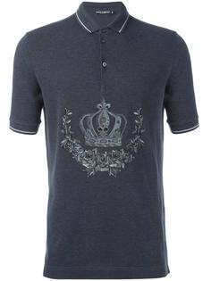 футболка-поло с вышивкой  Dolce & Gabbana