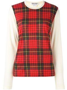 свитер с панелью в полоску Comme Des Garçons Comme Des Garçons