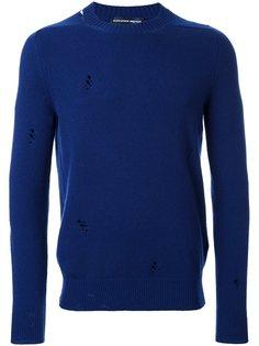 свитер с рваными деталями   Alexander McQueen