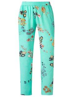 шелковые брюки с принтом Isolda