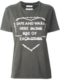 футболка с принтом логотипа  Each X Other