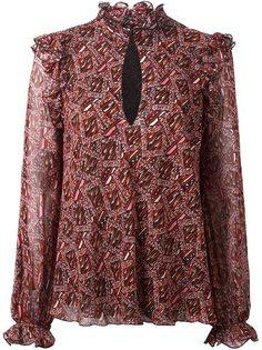 блузка с узором Giambattista Valli