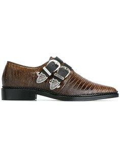 туфли с пряжками и заостренным носком Toga Pulla