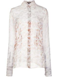 прозрачная блузка с мраморным эффектом Sophie Theallet
