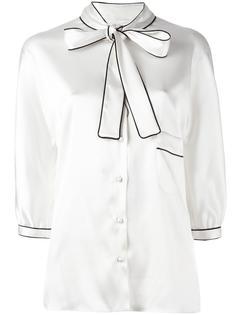 блузка с завязками на бант Dolce & Gabbana