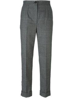 твидовые брюки в клетку Dolce & Gabbana