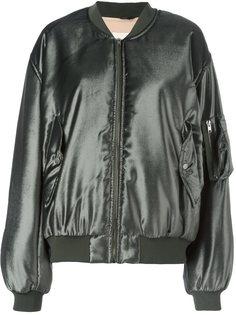 атласная куртка-бомбер Ssheena