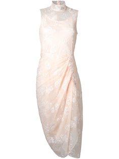 полупрозрачное платье с вышивкой Simone Rocha