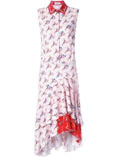 платье-рубашка с цветочным принтом  Preen By Thornton Bregazzi