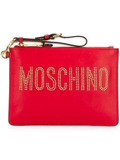 декорированный клатч  Moschino