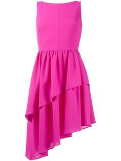 платье с оборками асимметричного кроя  Osman
