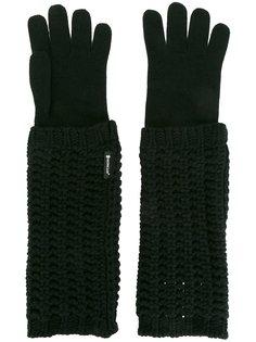 удлиненные трикотажные перчатки Moncler