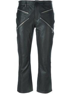 укороченные кожаные брюки Alexander Wang