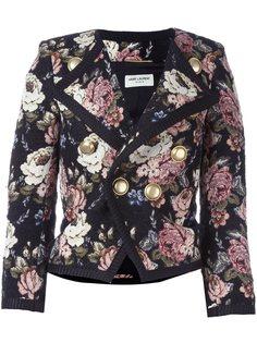 жаккардовая куртка с цветочным узором Saint Laurent