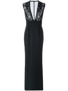вечернее платье с кружевным верхом Emanuel Ungaro