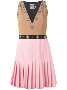 платье с плиссированной юбкой и заклепками Fausto Puglisi