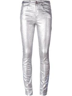 джинсы с эффектом металлик  Isabel Marant Étoile