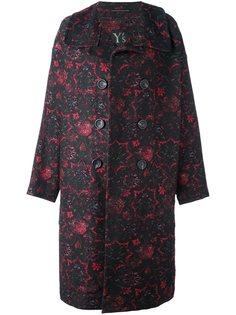 объемное двубортное пальто Ys Y`s