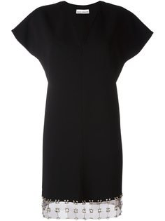 короткое платье с V-образным вырезом Paco Rabanne