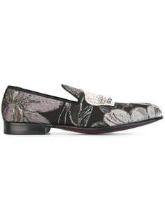 слиперы с вышивкой корон Dolce & Gabbana