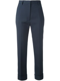 прямые укороченные брюки Jil Sander