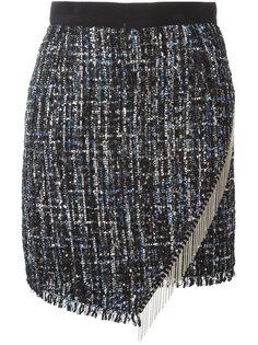 асимметричная юбка с бахромой Marco Bologna