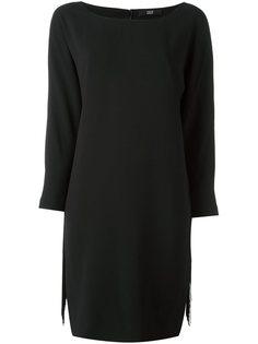 платье с бахромой и вырезом-лодочкой Steffen Schraut