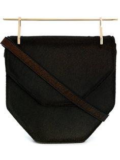сумка через плечо с мехом пони M2malletier