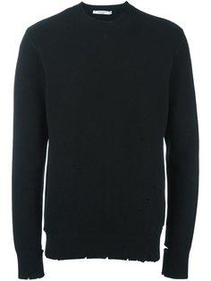 свитер с рваными деталями   Givenchy