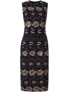 платье-шифт с цветочной вышивкой Givenchy