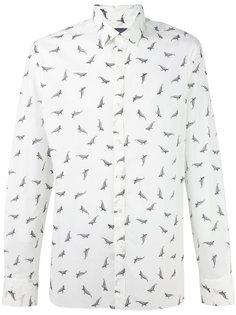 рубашка с принтом акул  Lanvin