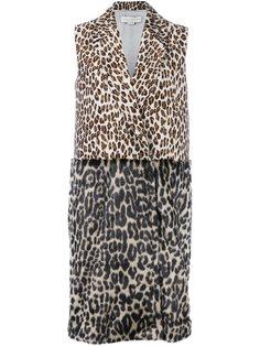 пальто с леопардовым принтом Stella McCartney