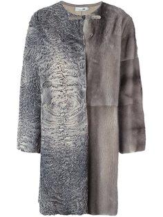 лоскутное меховое пальто Manzoni 24
