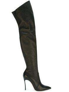 ботфорты с заостренным носком Casadei