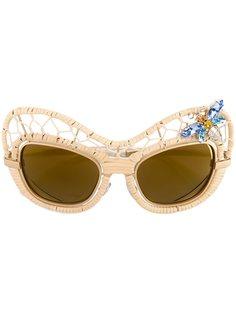 декорированные солнцезащитные очки Dolce & Gabbana Eyewear