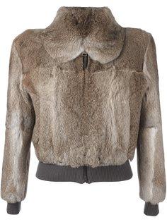 укороченная меховая куртка JW Anderson