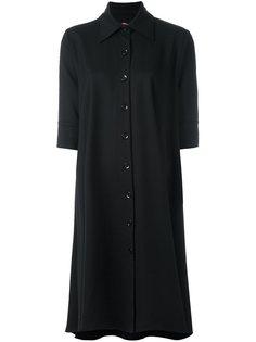 драпированное платье с классическим воротником Ultràchic