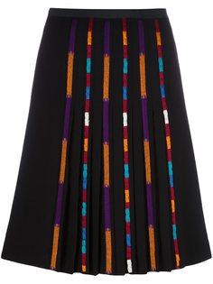 плиссированная юбка с полосатым принтом Etro