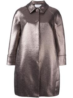 пальто с эффектом металлик  Gianluca Capannolo