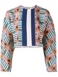 укороченная блузка с узором Tata Naka