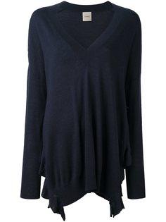 расклешенный пуловер с V-образным вырезом Nude