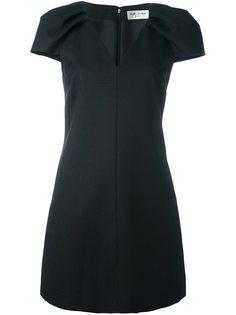 платье мини с V-образным вырезом Saint Laurent