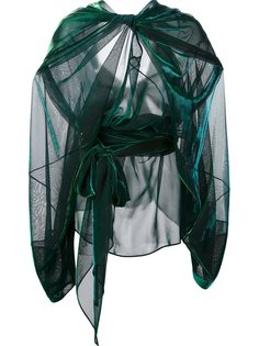 прозрачная блузка с эффектом драпировки Maison Margiela