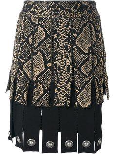 юбка с принтом змеиной кожи Fausto Puglisi