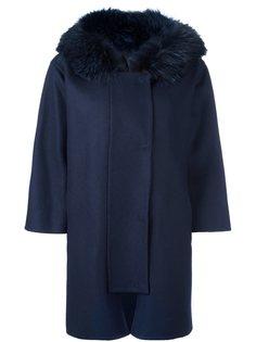 пальто с отделкой из лисьего микса Ermanno Scervino